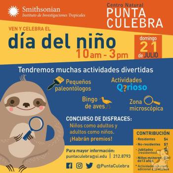 Ven y celebra el día del niño en Punta Culebra Smithsonian