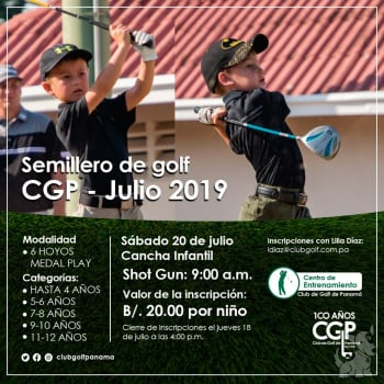 Semillero de Golf CGP - Julio 2019