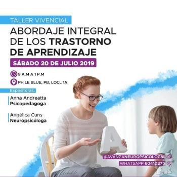 Taller vivencial: Abordaje integral de los trastornos de aprendizaje