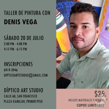 Taller de pintura con Denis Vega