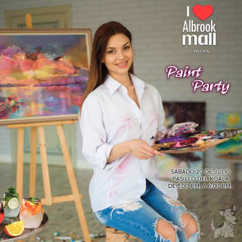 Paint Party en Albrook Mall