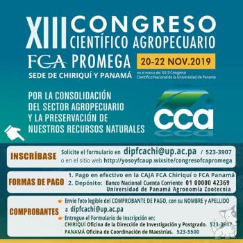 XIII Congreso Científico Agropecuario FCA PROMEGA