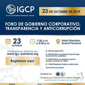 Foro de Gobierno Corporativo, Transparencia y Anticorrupción.
