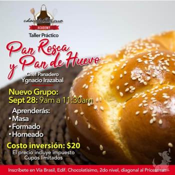 Curso de Panadería Básica I: Pan Rosca y Pan de Huevo