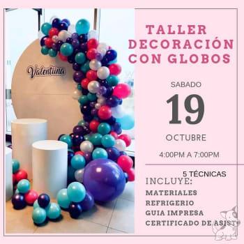 Taller decoracion con globos