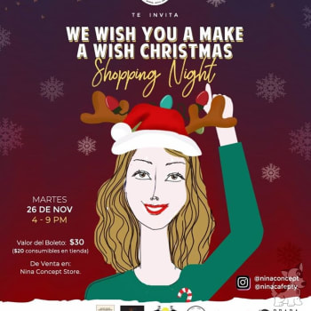 We wish you to make a wish Christmas Shopping Night