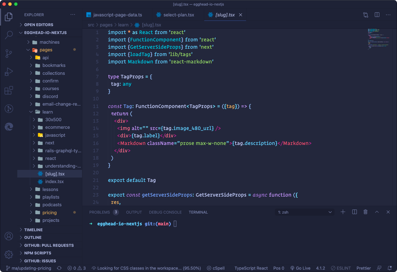 The interface of VS Code – one of the most popular environments for professional programming
