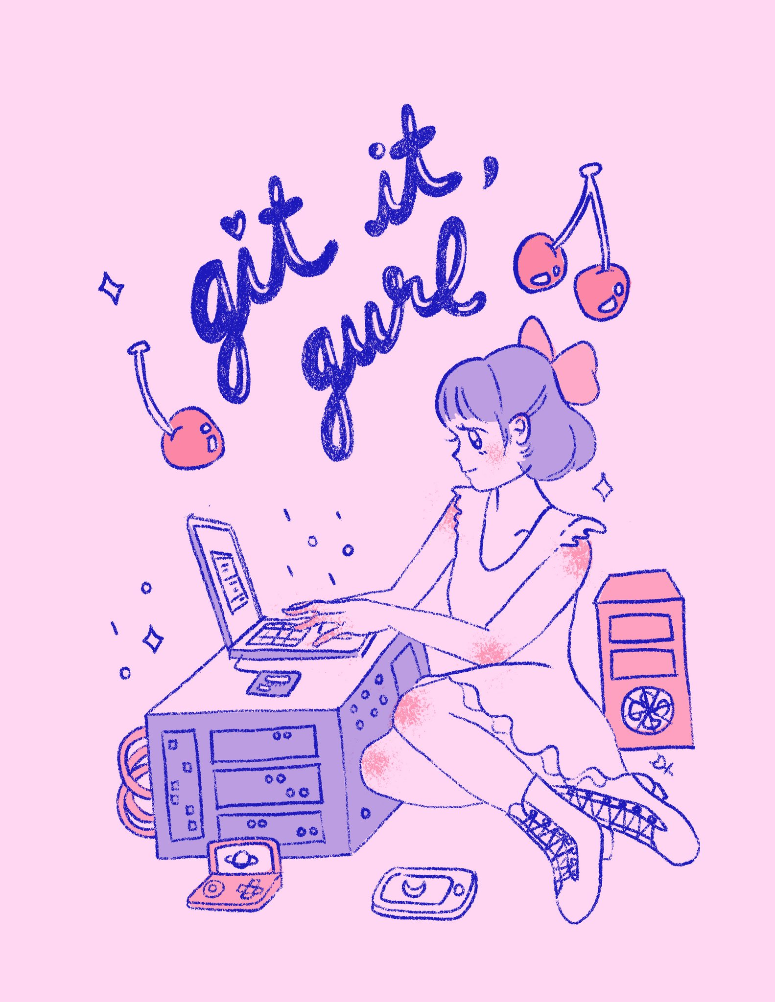 Git It Gurl designs created by Amy Wibowo