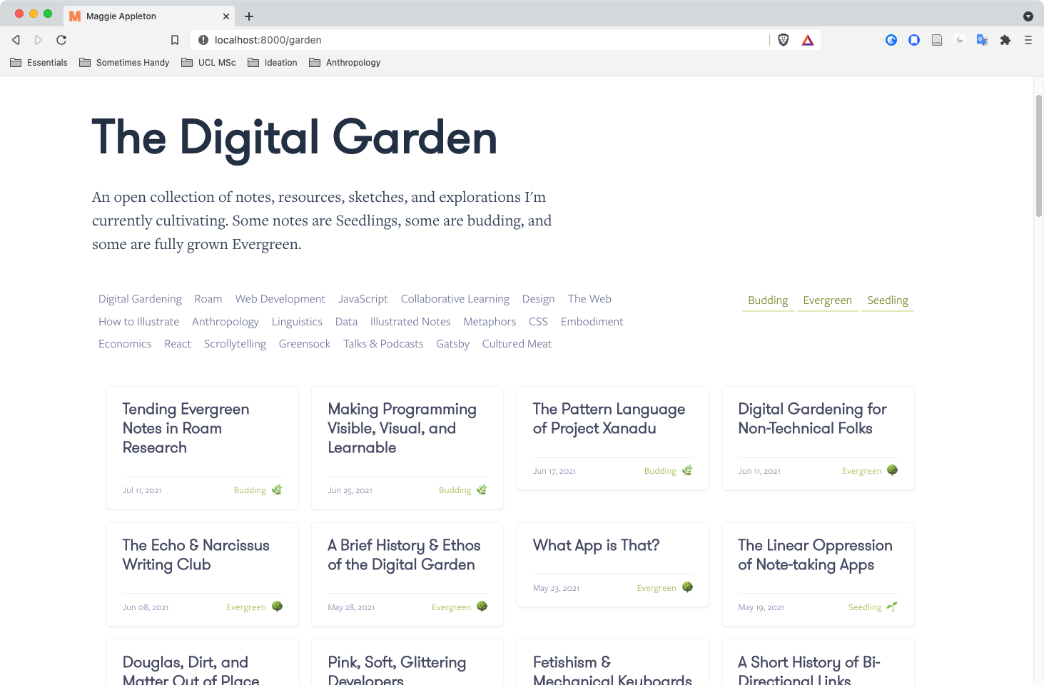 A screenshot of this website rendered in a browser
