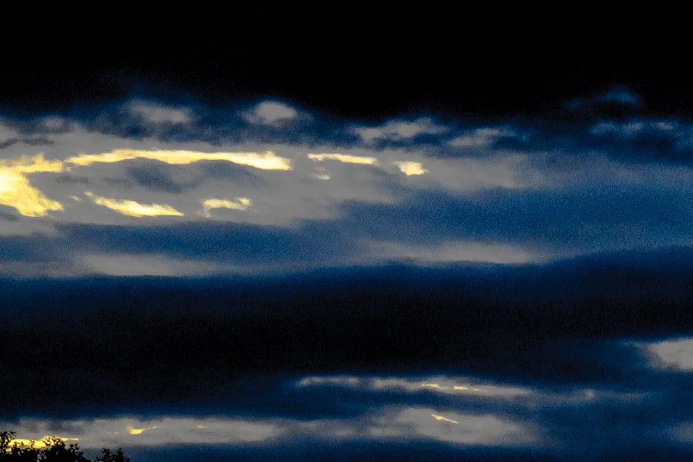 Nuages IV -Ciel d'orage - Catherine  Bisiaux
