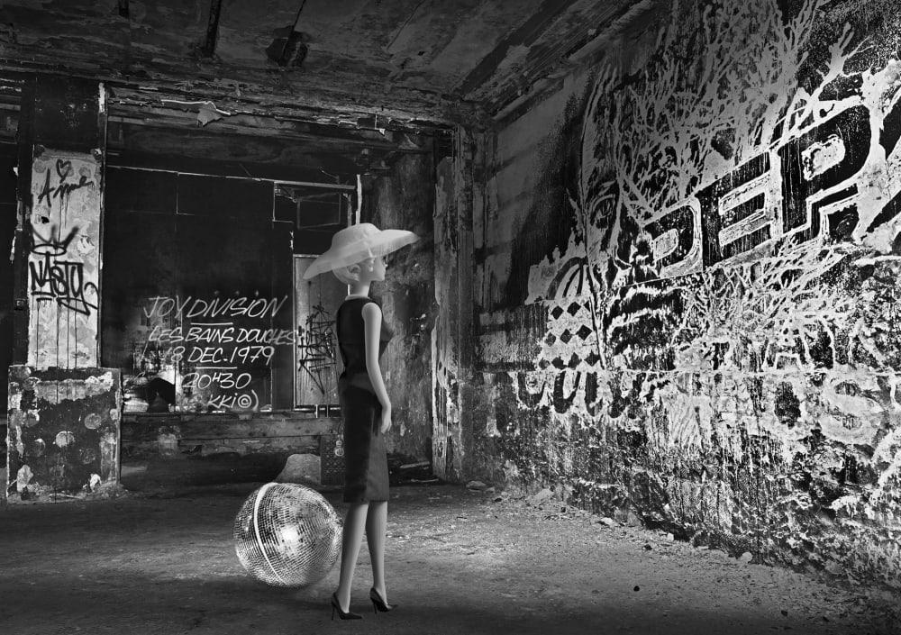La parisienne - à la démolition Party des Bains - Michel Tréhet
