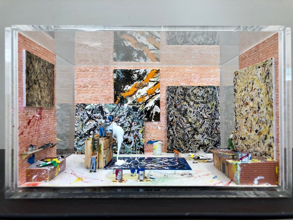 Dans l'atelier de Pollock - Béatrice Lecomte
