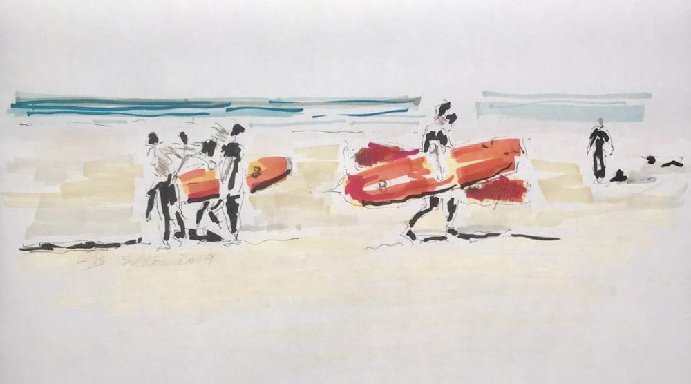 Les surfeurs  - Karin Boinet