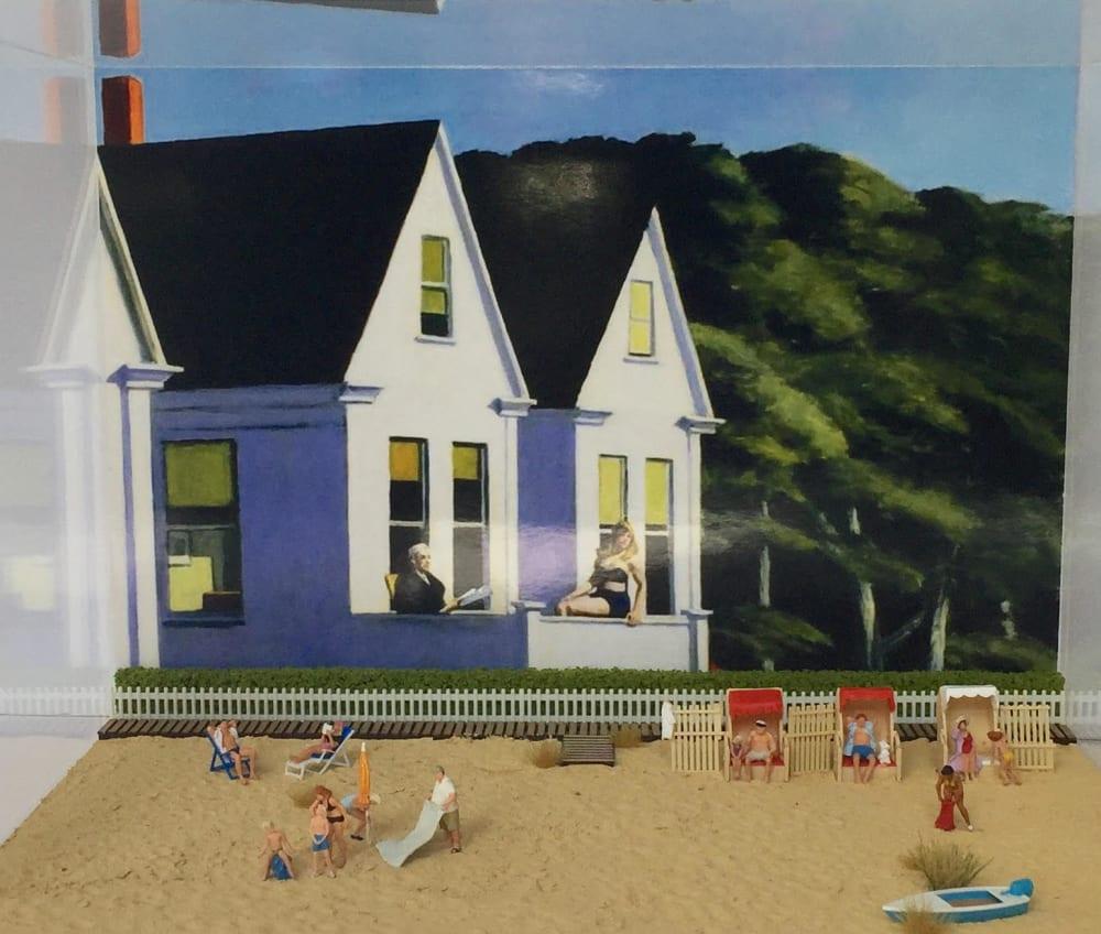 Hopper à la plage - Béatrice Lecomte