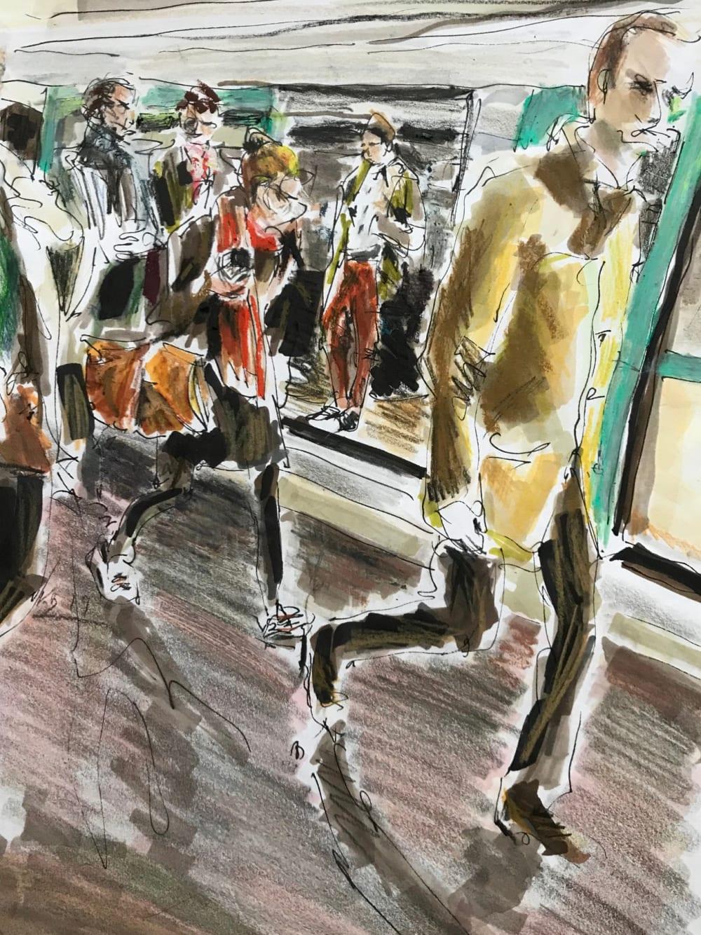 Sortie dans le métro - Karin Boinet