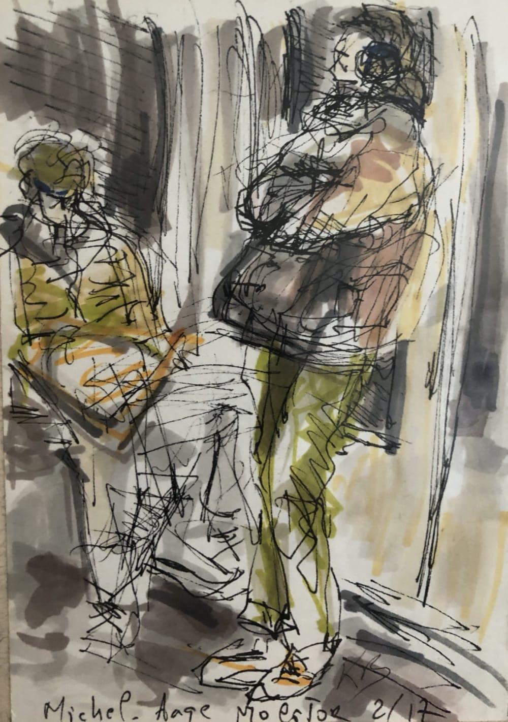 "Metro Station "" Michel Ange Molitor"" - Karin Boinet"