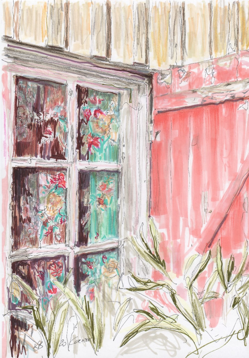 Cap Ferret, la fenêtre - Karin Boinet