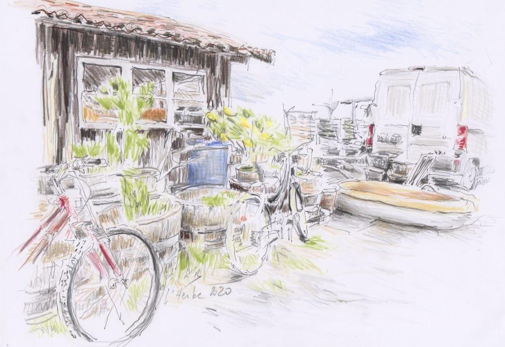 La cabane et les vélos - Karin Boinet