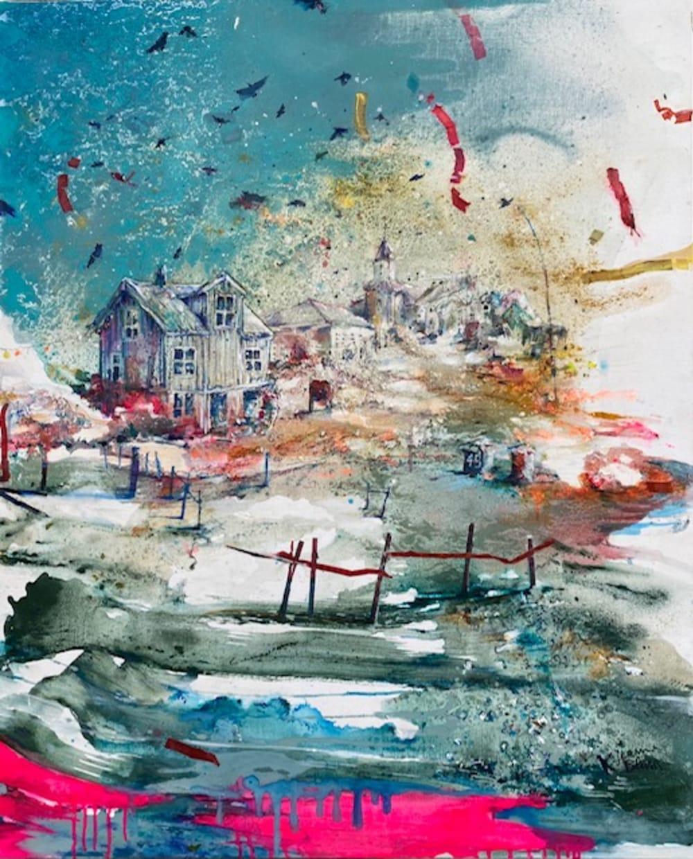 Le village  - Karin  Jeanne Blum