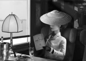 Arrivée en gare de Venise dans l'Orient Express  de Michel Tréhet