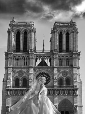 Une photo devant Notre-Dame de Michel Tréhet