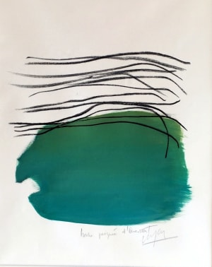 Herbe peignée à Ouessant de Nathalie Leverger