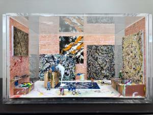 Dans l'atelier de Pollock de Béatrice Lecomte