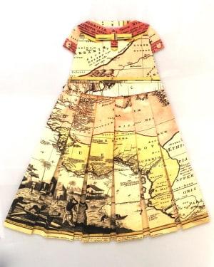Robe Géographique - Les pamplemousses Mistigri  de Elisabeth Lecourt