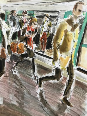 Sortie dans le métro de Karin Boinet