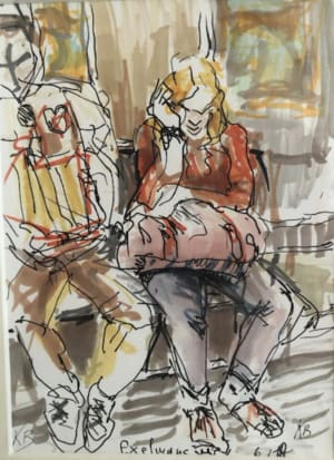 "Metro station ""Exelmans""  de Karin Boinet"