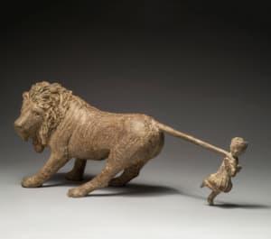 Jeanne et le lion  de Sophie  Verger