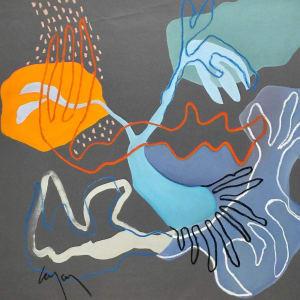 Laminaires gris 1 de Nathalie Leverger