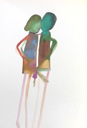 Aquarelle et mots croisés  de Elisabeth Lecourt