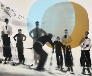 Les skieurs de Valérie Betoulaud
