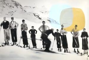 Les skieurs II  de Valérie Betoulaud