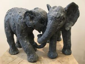 Duo d'Eléphants de Isabelle Popravko