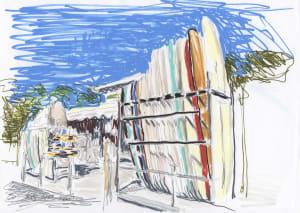 Cap Ferret - Les planches de surf  de Karin Boinet