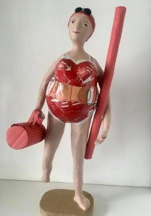 La nageuse rouge de Catherine  Fontaliran