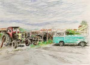 Le tracteur de Karin Boinet