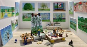 L'atelier de David Hockney de Béatrice Lecomte