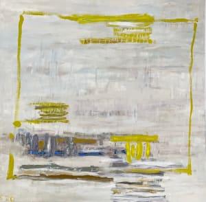Composition au cadre jaune  de Karin Boinet