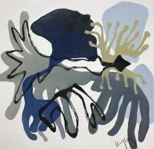 Petits laminaires Bleus 1 de Nathalie Leverger