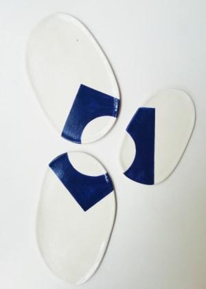 Assiettes Géométriques de Véronique Le Besnerais