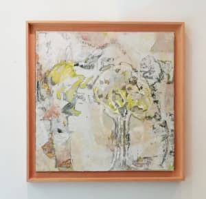 Abstrait jaune  de Karin Boinet