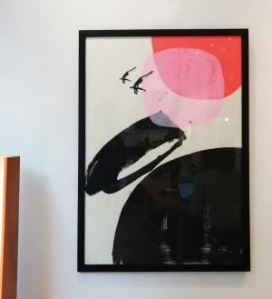 Plongeon rose et rouge  de Valérie Bétoulaud