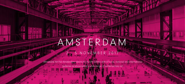 Affordable Art Fair  - La galerie part à Amsterdam