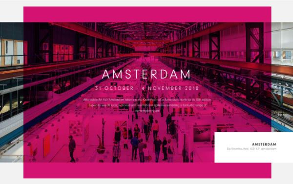 AMSTERDAM AFFORDABLE ART FAIR 2018 - Nous participons pour la deuxième année à AAAF
