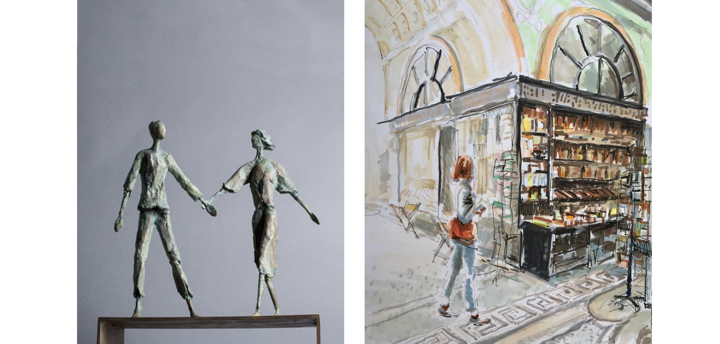 Mise en scènes - Sculpture et dessin
