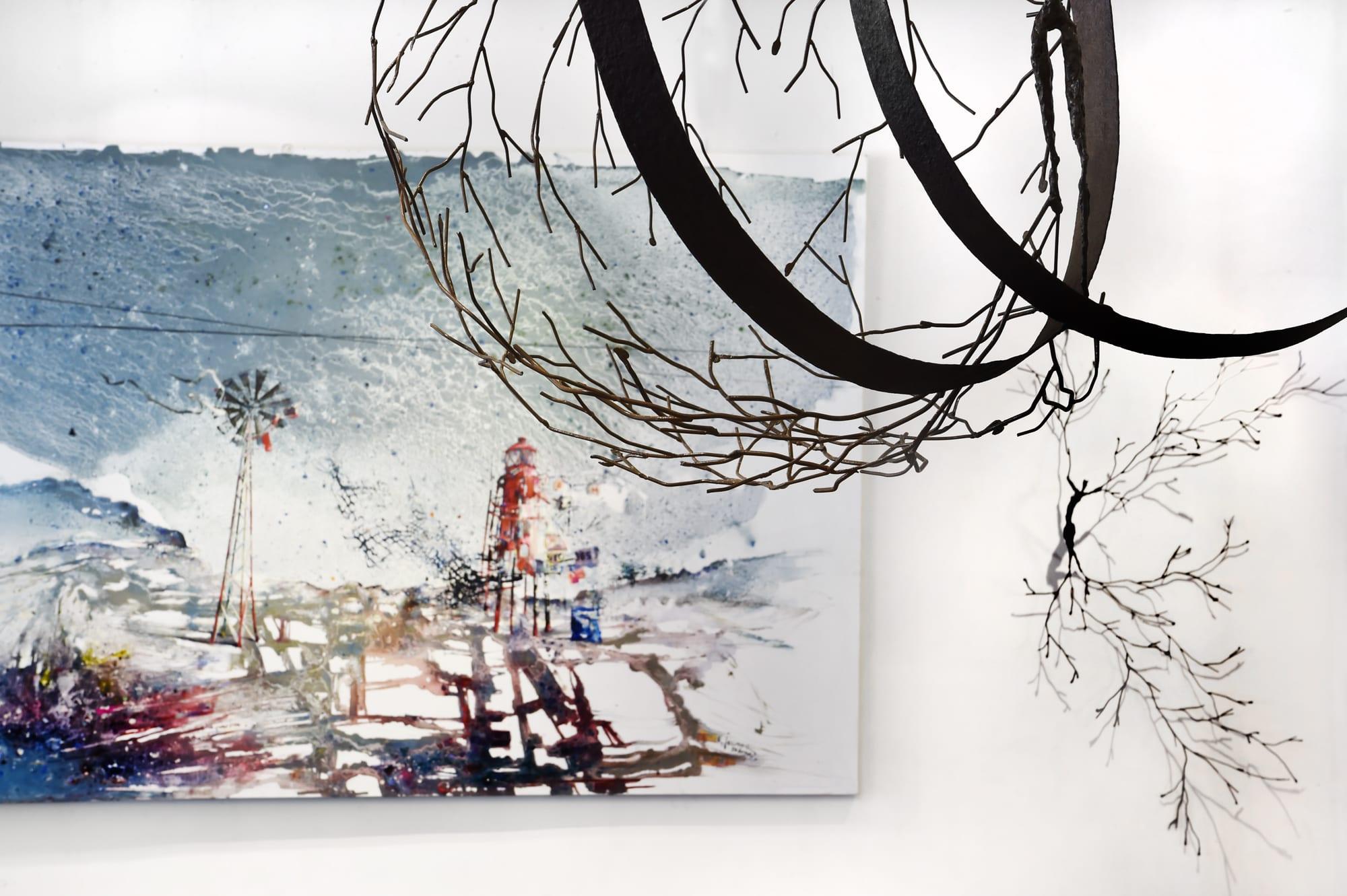 Accrochage des artistes permanents  - Exposition collective