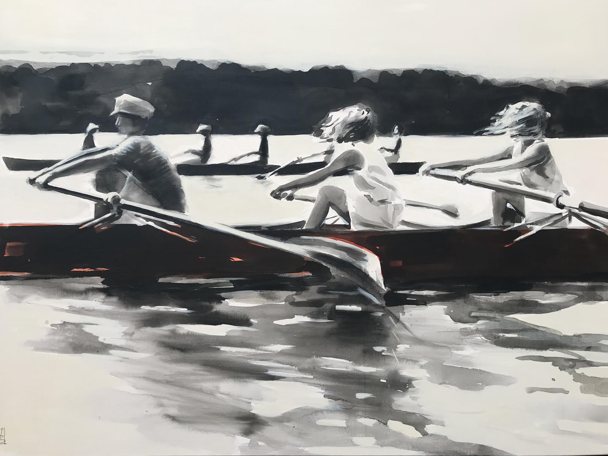 La course d'aviron Peinture